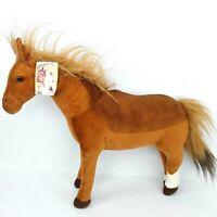 Bocchetta Phar Lap horse plush soft toy Brown