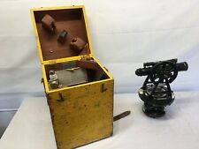 Very NIce Vintage Gurley Surveyors Transit Level in Wood Case, with Accessories