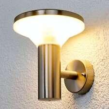 LED Außenwandleuchte Jiyan Edelstahl-Wandleuchte Lampenwelt Außenwandlampe Rund