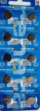 371 RENATA SR920SW D371 (10 Piece) Watch Battery Free Shipping Authorized Seller