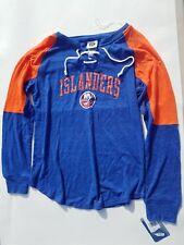 New York Islanders Women's Lace-Up Pullover Sweatshirt M