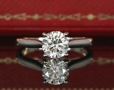 $15,500 Cartier Platinum GIA 0.91ct Diamond Solitaire Engagement Ring #48 Sz 4.5