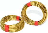 STRONG BRASS No.3 BRASS COILS PICTURE PHOTE HANGING WIRE 3m BRAIDED 1.35mm 18kg