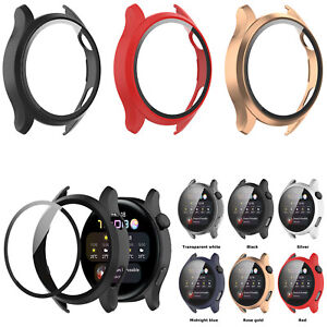 Tempered Film PC Case Cover Frame Bumper for Huawei Watch 3 Smart Sports Watch