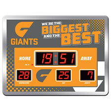 123657 GWS GIANTS AFL SCOREBOARD DIGITAL LED CLOCK TIME DATE TEMPERATURE