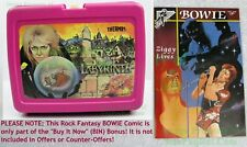 80s VINTAGE Thermos Labyrinth Lunch Box David Bowie Jim Henson Movie +BIN Bonus!