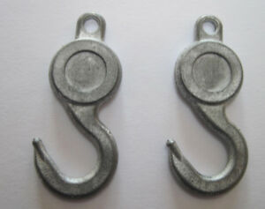 Pair of replacement hooks for Marx toy tow truck cheaper by two