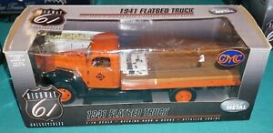 1941 Flatbed Truck GMC Orange 1/16 Highway 61 Diecast Never Out Of Box