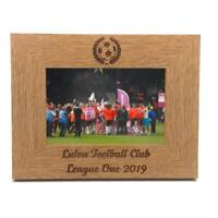 Football Themed Personalised Engraved Photo Frame FW365