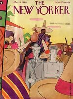 1946 New Yorker March 9 - When in Mexico be inconspicuous - Rea Irvin