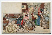 P. KAUFFMAN.Usages & Costumes d'Alsace.19. Fabrication de la choucroute