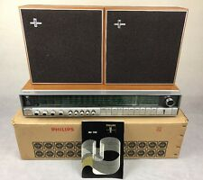 Rare Vintage 1970s Retro Philips Hifi Stereo Amplifier RH702 & Speakers Boxed