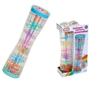 Funtime Baby Music Rainmaker instrument toy Tube Rainbow Rainmaker Unicorn
