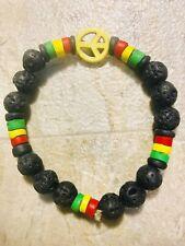 Rasta Chakra Balance Natural Stone Bracelet