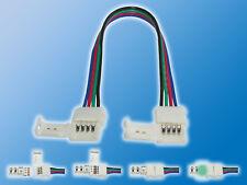 4x 10mm RGB Verbindungskabel Klemmverbinder auf Klemmverbinder Schnellverbinder