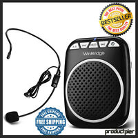 Portable Rechargeable Mini Voice Amplifier Speaker With Wired Microphone Headset
