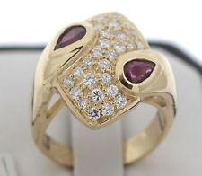 WERT 3100,- TRAUM 0,75 CT BRILLANT RUBIN RING 750 / 18 KT GOLD MASSIV HANDARBEIT