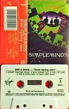 Simple Minds Street Fighting Years Mc Tape Cassette Italy