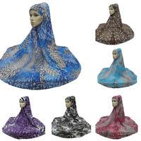 One Piece Large Hijab Islamic Amira Khimar Muslim Women Caps Headwear Arab Scarf