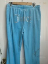Juicy couture tracksuit bottoms Size Large Blue Flared Joggers New - See Images