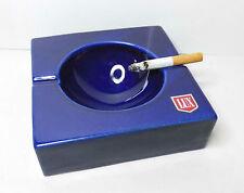 LUX Zigaretten Aschenbecher aus blauer Keramik