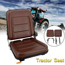Brown Tractor Seat With Back Rest Waterproof Lawn Mower Garden Tractor Utv Atv