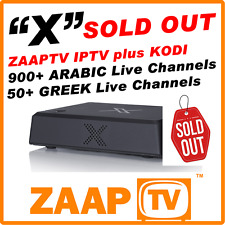 "ZAAPTV ""X"" IPTV Internet Receiver  - ARABIC / Turkish TV - HD 1080P No Buffering"
