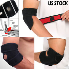 Elbow Support Adjustable Tennis Arm Brace Sleeve Spraine Sports Gym Relief Pains