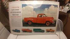 Vintage Saturday Evening Post 1949 Studebaker Pickup Truck Ad Advertising 2 Page