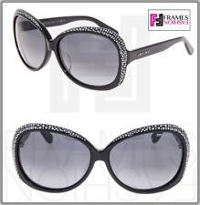327987867a1f Jimmy Choo Lu Black Diamante Crystal Butterfly Sunglasses Lu/f/s Special Fit