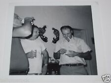 Old Vintage 1960's Beer Drinking Cigarette Smoking Men Friends Photograph Photo