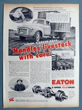 Original 8x11 1953 Eaton Truck Axle Ad Photo Endorsed by F W Miltner of Solon IA