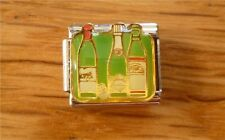 9mm Classic Size Italian Charm E155  Wine  Bottles of Wine