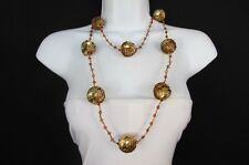 """New Women 24"""" Extra Long Strand Sequins Fashion Necklace Gold Silver Black Brown"""