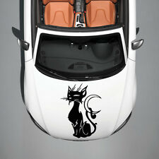 ANIMAL BLACK CAT KITTEN DESIGN HOOD CAR VINYL STICKER DECALS ART MURALS SV1398