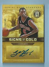 JALEN ROSE 2011/12 GOLD STANDARD SIGNS OF GOLD AUTOGRAPH AUTO /149