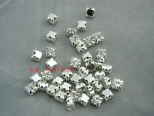 Loose crystal sew on rhinestone SS25 Silver clear 720