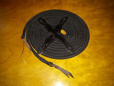 22' MECATE REIN WITH BLACK BARBED WIRE SLOBBER STRAPS FOR PARELLI TRAINING