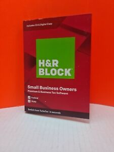 H&R Block Small Business Owner Premium Tax Software 2019, Sealed, Fed  State NEW