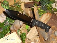 "Master USA/Knife/Bowie/Blade/Full Tang/440 SS/Survival/Combat/Camping/12""+/BK"