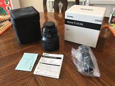 Sigma Art 14mm F/1.8 DG HSM Lens For Nikon (Black)