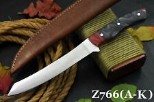 Custom Ball Bearing 52100 Steel Fillet Hunting Knife Handmade,No Damascus Z766-G