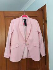 Marks and Spencer Cotton Blend Stretchy Sugar Pink Blazer Jacket, UK 14, BNWT
