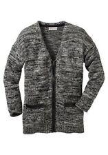 Langarm Damen-Strickjacken aus Baumwollmischung mit mittlerer Strickart