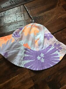 Carter's Baby Toddler Floral Sunhat Sun Hat Girls Beach  3-9 Months