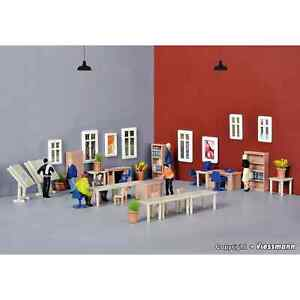 Kibri 38655 1/87 Ho Decors Kit Development Furniture Office H0