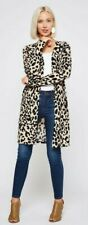 nwt BEESON RIVER boutique CHEETAH PRINT CARDIGAN sweater wrap  PLUS SZ 1X 2X 3X