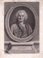 Portrait XVIIIe François de Chevert Général Louis XV Siège de Prague Hastenbeck