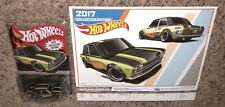 HOT WHEELS 2016 DATSUN BLUEBIRD 510 w/ K-DAY EVENT POSTER KMART MAIL IN !!!
