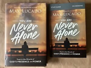 You Are Never Alone Hardcover Book And Soft cover Study Guide Max Lucado